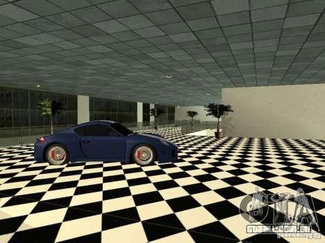 Salão do automóvel de Porsche para GTA San Andreas por diante tela