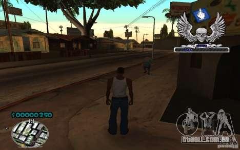 C-HUD awk William para GTA San Andreas segunda tela