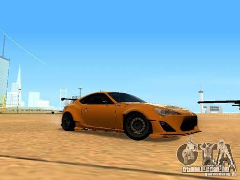 Toyota FT86 Rocket Bunny V2 para GTA San Andreas vista interior