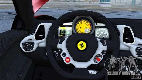 Ferrari 458 Italia 2010 Autovista para GTA 4 esquerda vista