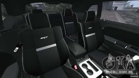 Dodge Challenger SRT8 392 2012 [EPM] para GTA 4 vista interior
