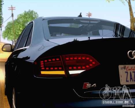 Audi S4 2010 para GTA San Andreas vista inferior
