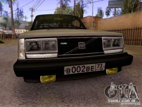 Volvo 242 Turbo para GTA San Andreas esquerda vista