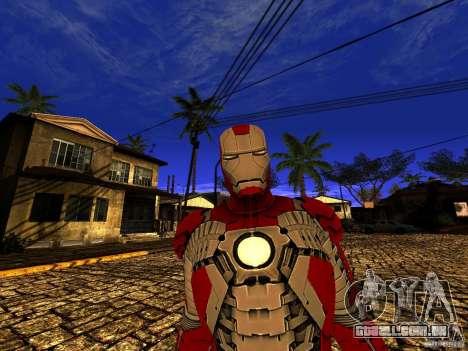Iron Man 3 Mark V para GTA San Andreas por diante tela