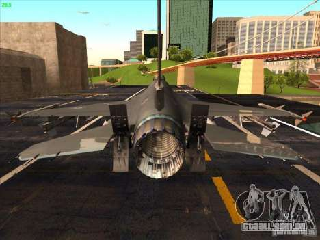F-16C Fighting Falcon para vista lateral GTA San Andreas
