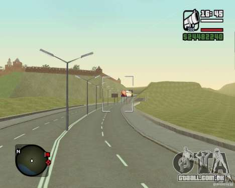 Estrada de Leiria-Nižegorodsk para GTA San Andreas quinto tela