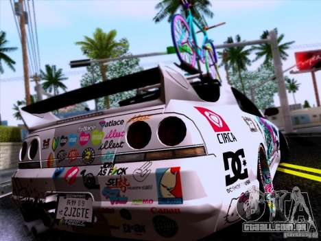 Nissan GT-R R33 HellaFlush para GTA San Andreas esquerda vista