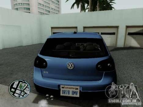 Volkswagen Golf V R32 Black edition para GTA San Andreas traseira esquerda vista