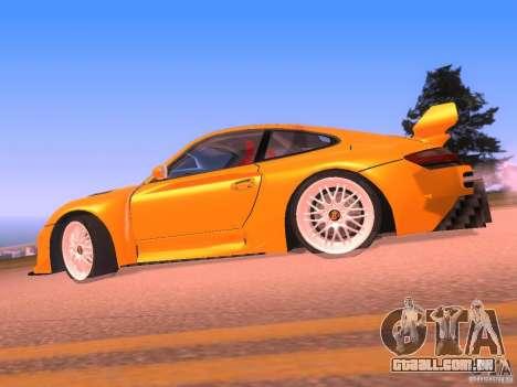 Porsche 911 Turbo Tuning para GTA San Andreas esquerda vista