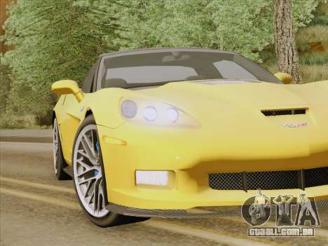 Chevrolet Corvette ZR1 para GTA San Andreas interior