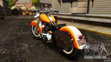 Harley Davidson Fat Boy Lo Vintage para GTA 4 traseira esquerda vista