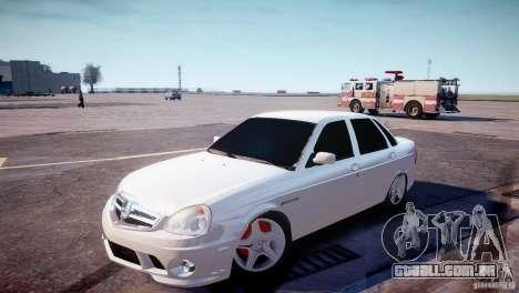 LADA Priora de 2170 AMG para GTA 4 esquerda vista