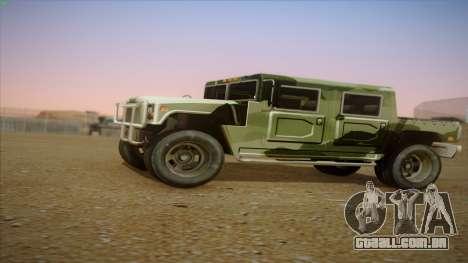 HD Patriot para GTA San Andreas esquerda vista