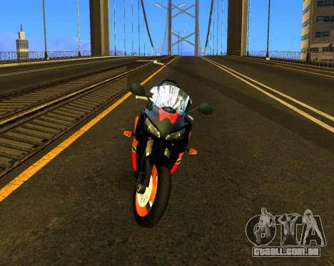 HONDA CBR 1000RR Repsol para GTA San Andreas esquerda vista