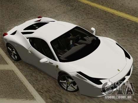 Ferrari 458 Italia 2010 para as rodas de GTA San Andreas