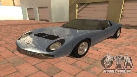 Lamborghini Miura P400 SV 1971 V1.0 para GTA San Andreas