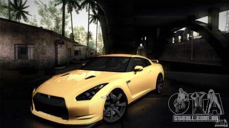 Nissan GT-R35 v1 para GTA San Andreas vista interior