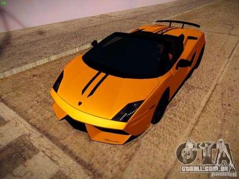 Lamborghini Gallardo LP570-4 Spyder Performante para GTA San Andreas esquerda vista