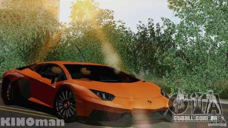 Lamborghini Aventador LP 700-4 para GTA San Andreas vista traseira