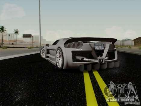Gumpert Apollo 2005 para GTA San Andreas traseira esquerda vista