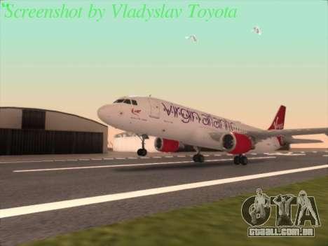 Airbus A320-211 Virgin Atlantic para GTA San Andreas
