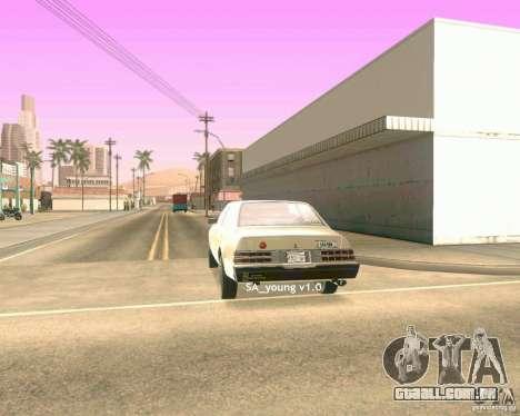 Young ENBSeries para GTA San Andreas por diante tela