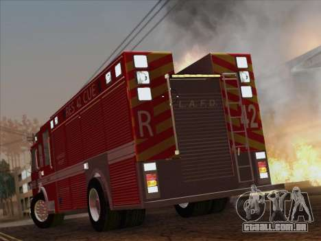 Pierce Contender LAFD Rescue 42 para GTA San Andreas vista superior