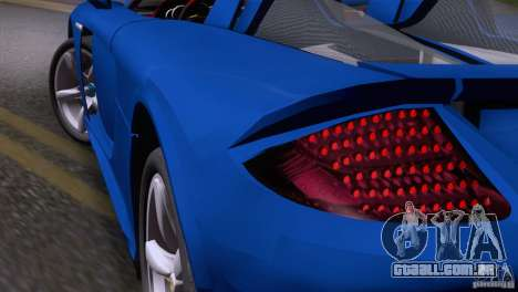 Porsche Carrera GT Custom para GTA San Andreas vista direita