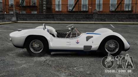 Maserati Tipo 60 Birdcage para GTA 4 esquerda vista