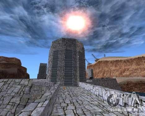 A nova estrutura da barragem para GTA San Andreas terceira tela