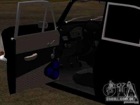 Estilo Extra Moskvitch 408 para GTA San Andreas vista superior