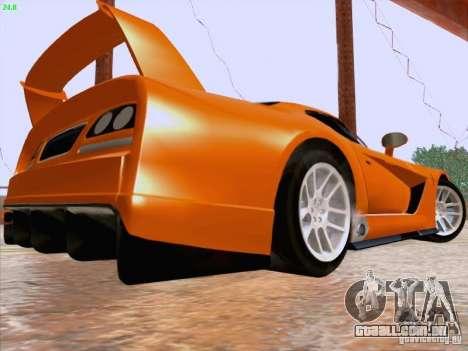 Dodge Viper GTS-R Concept para GTA San Andreas traseira esquerda vista