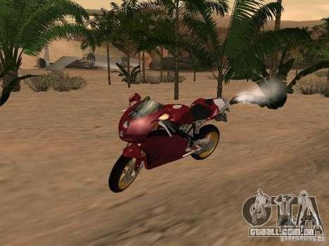 Ducati 999R para vista lateral GTA San Andreas