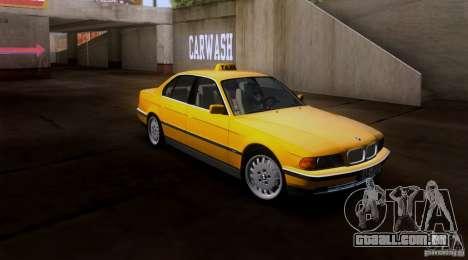 BMW 730i E38 1996 Taxi para GTA San Andreas