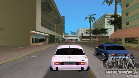 VAZ 2106 para GTA Vice City vista traseira esquerda