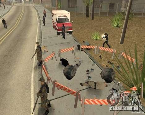 Cena do crime (cena do Crime) para GTA San Andreas por diante tela