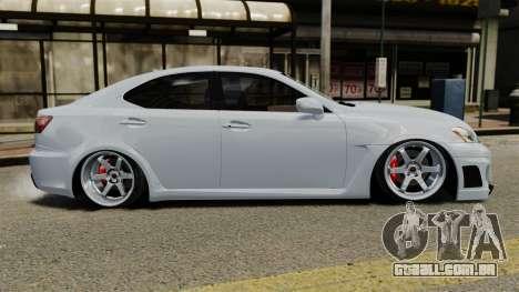 Lexus IS F 2009 para GTA 4 esquerda vista