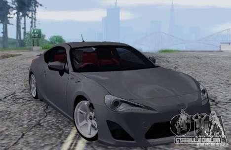 Toyota GT86 para GTA San Andreas vista interior