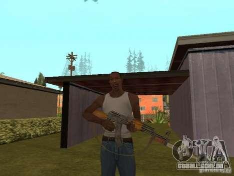 AK 47 com um HD de baioneta-faca para GTA San Andreas