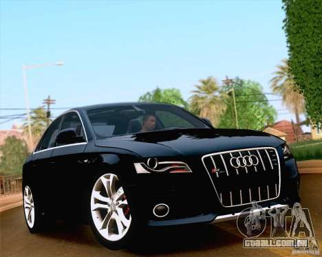 Audi S4 2010 para GTA San Andreas interior