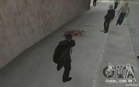 Animando o corpo de GTA IV para GTA San Andreas quinto tela
