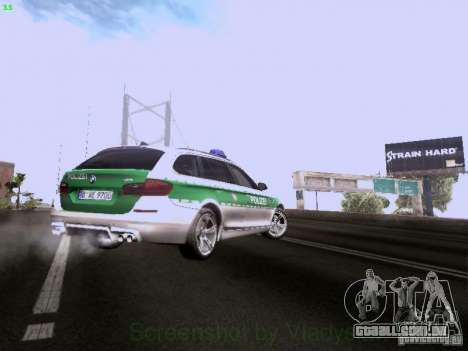 BMW M5 Touring Polizei para GTA San Andreas vista superior