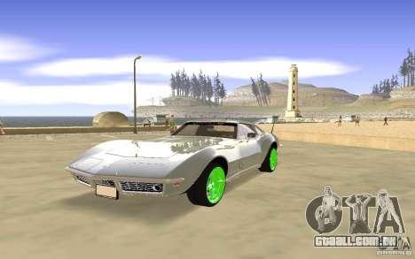 Chevrolet Corvette Stingray Monster Energy para GTA San Andreas vista inferior