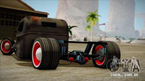 Rat Rod para GTA San Andreas traseira esquerda vista
