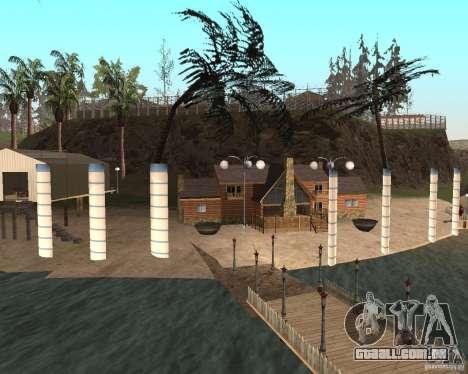 Villa na lagoa de pesca para GTA San Andreas