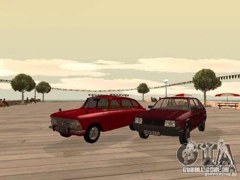 AZLK Moskvich 2141 para GTA San Andreas vista traseira
