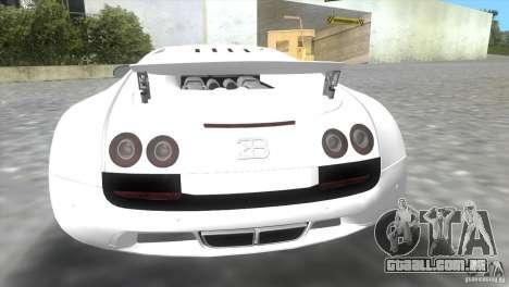 Bugatti ExtremeVeyron para GTA Vice City vista traseira