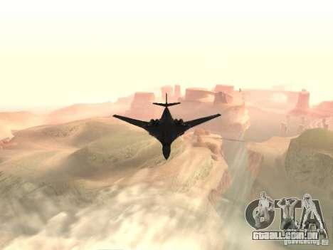 Tu 160 Black Jack para GTA San Andreas vista direita