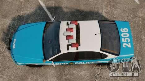 Declasse Merit Police Cruiser ELS para GTA 4 vista direita