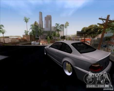 BMW 3-er E46 Dope para GTA San Andreas esquerda vista